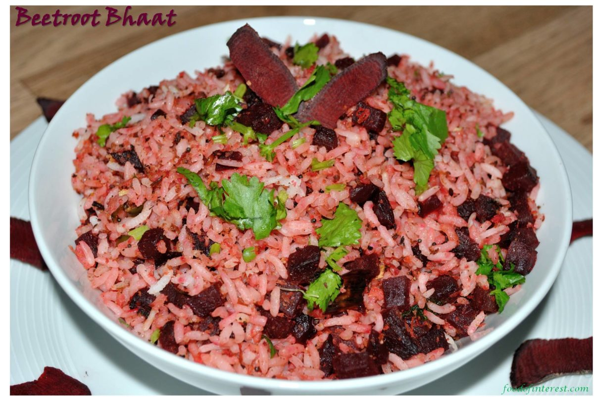 Beetroot Bhaat | Beetroot Rice