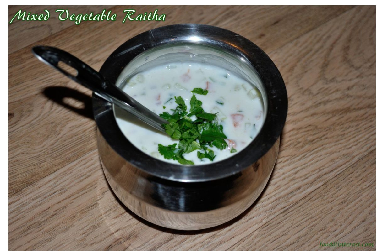 Mixed Vegetable Raitha