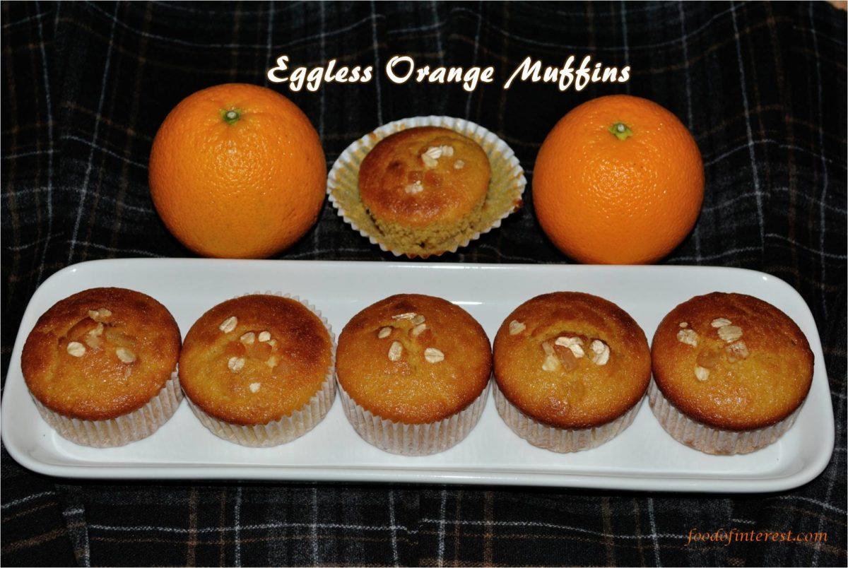 Eggless Whole Wheat Orange Muffins | Dessert Recipes