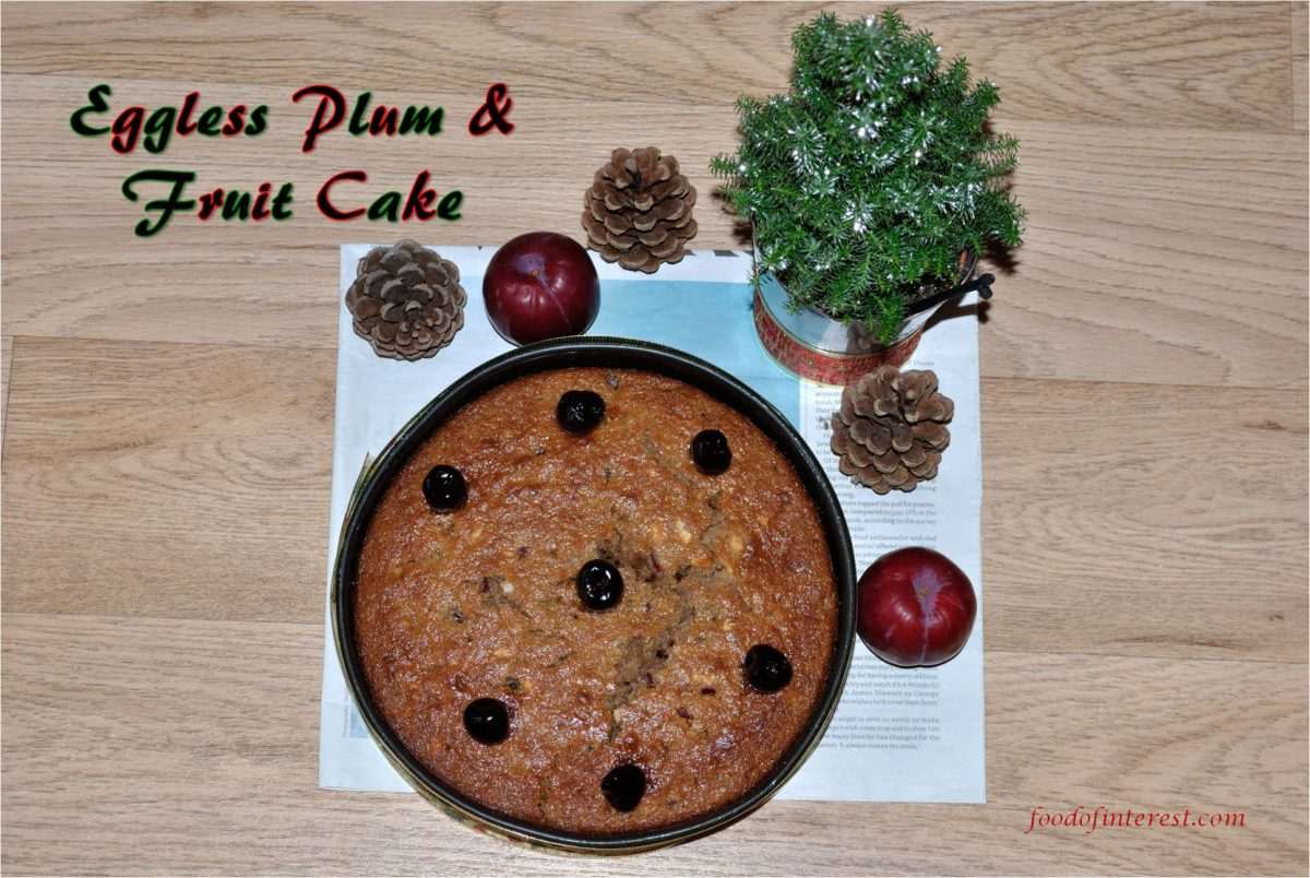 Eggless Plum Cake | Eggless Plum and Fruits Cake | Eggless Cake Recipes