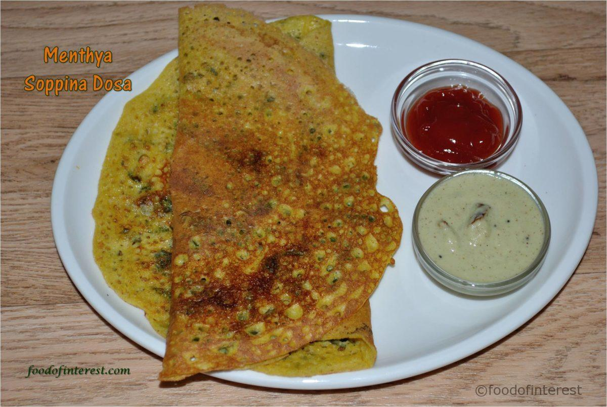 Menthya Soppina Dosa | Methi Leaves Dosa | Dosa Recipes