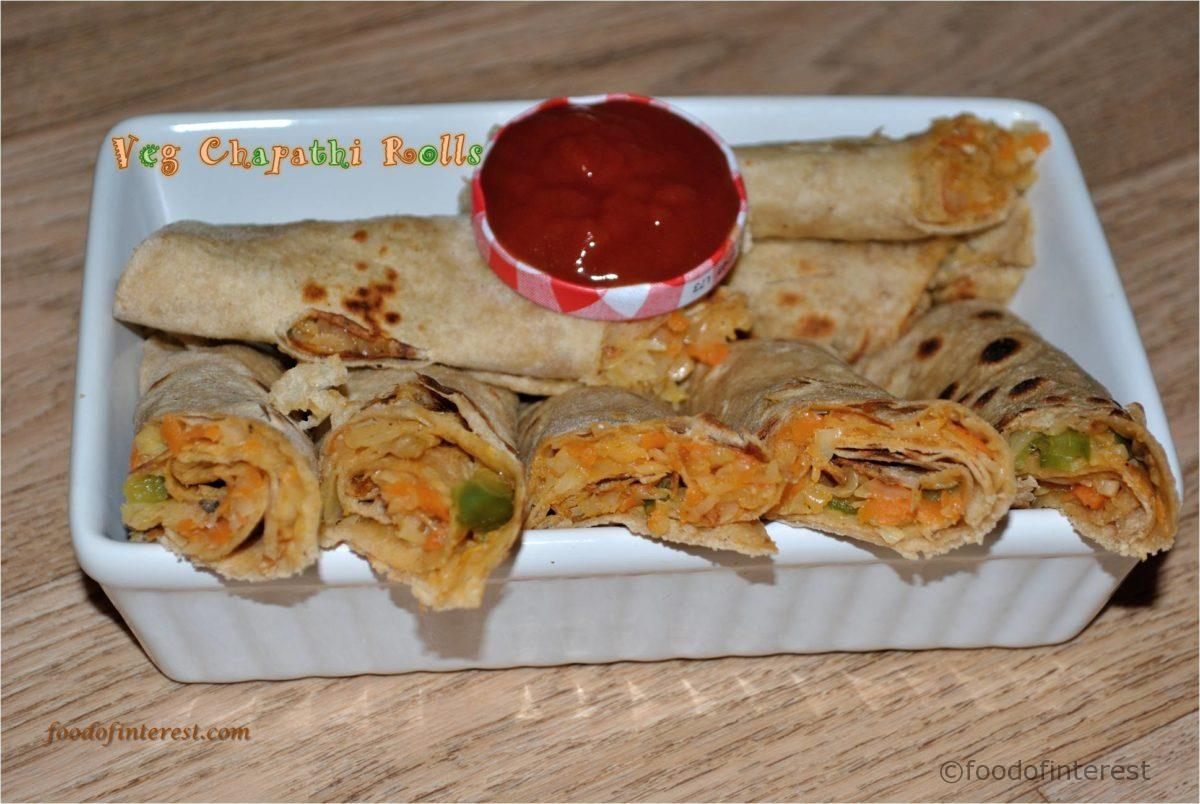 Veg Chapathi Rolls | Chapathi Rolls | Kids Recipes