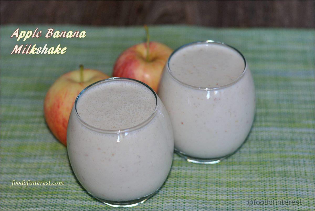 Apple Banana Milkshake